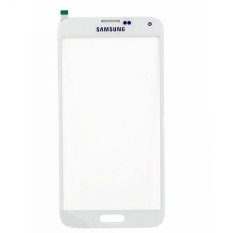 Стекло для Samsung SM-G900F Galaxy S5, Белое/Черное