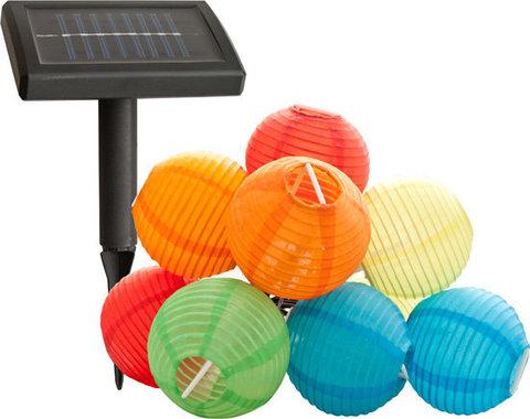 Светильник садово-парковый на солнечной батарее, 9 белых LED, E47 (Feron)