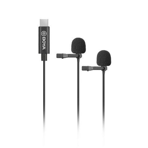 Двойной петличный микрофон с разъёмом USB Type-C BOYA BY-M3D