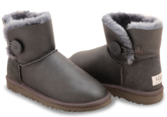 UGG Mini Bailey Button Metallic Grey