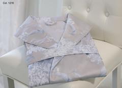 Элитный халат сатиновый Flieder серый от Curt Bauer
