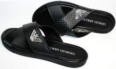 Стильные мужские сандалии Giorgio Armani 101 01Black.