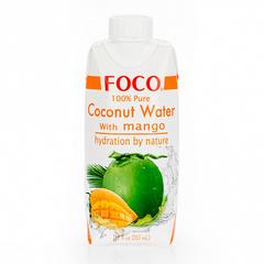 Кокосовая вода с манго FOCO, 330 мл