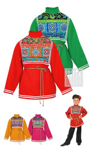 Фото Московская рубаха для мальчика рисунок Русский сарафан для девочки предназначен для активного длительного использования - концертных выступлений, творческих конкурсов, народных гуляний, утренников и праздников.