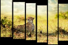 """Модульная картина """"Задумчивый гепард"""""""