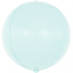 Шар (24''/61 см) Сфера 3D, Макарунс, Светло-голубой, 1 шт.
