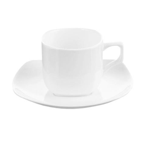 Чайная пара Wilmax фарфоровый белый: чашка 200мл с блюдцем. WL-993003