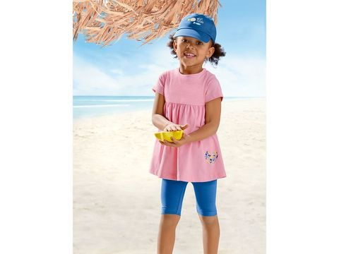 Комплект для девочки платье+легинсы+кепка Lupilu