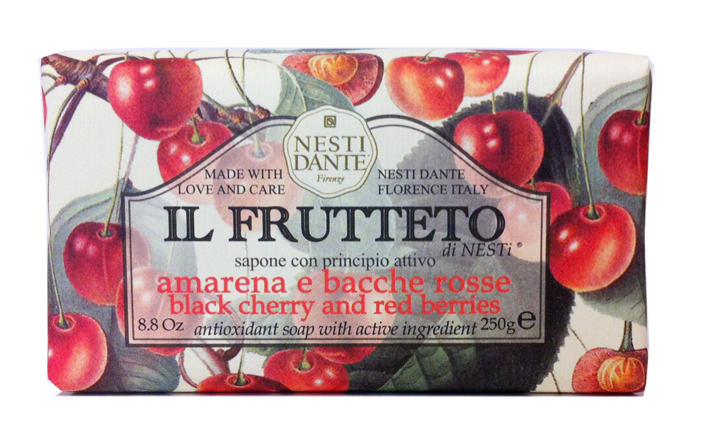 IL FRUTTETO Black Cherry & Red Berries / Черешня и красные ягоды мыло 250 гр