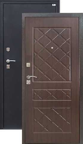 Дверь входная Город Мастеров Виктория, 2 замка, 1,5 мм  металл, (чёрный металлик+венге)