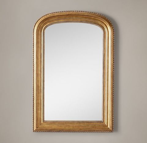 Gilt Arched Mirror