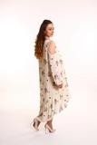 Платье для беременных 08702 бежево-коричневый