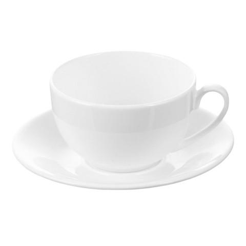 Кофейная пара Wilmax белая, фарфор, чашка 180 мл., WL-993001