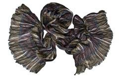 Шарф жатка коричневый 0432