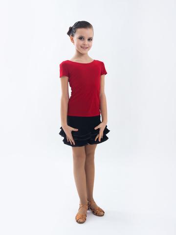 Детская блуза с коротким рукавом  для танцев