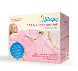 Плед с рукавами Sleepy Original Pink с поясом