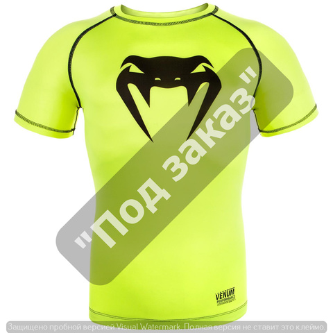 Компрессионная футболка VENUM CONTENDER 3.0 COMPRESSION T-SHIRT - SHORT  SLEEVES - NEO YELLOW BLACK 9db285aa0