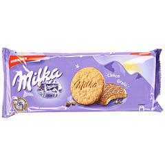 """Печенье """"Milka"""" с овсяными хлопьями в молочном шоколаде 168 г"""