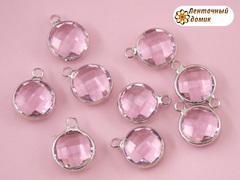 Камень круглый с ушками розовый