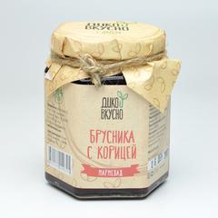 Мармелад брусника с корицей 200 гр