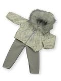 Костюм с курткой c мехом - Кремовый. Одежда для кукол, пупсов и мягких игрушек.