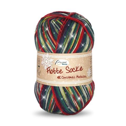 Носочная пряжа Rellana Flotte Socke Christmas 2402 с люрексом купить