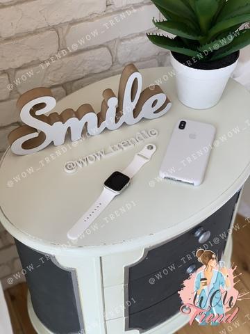 Чехол iPhone X/XS Silicone Case /white/ белый original quality