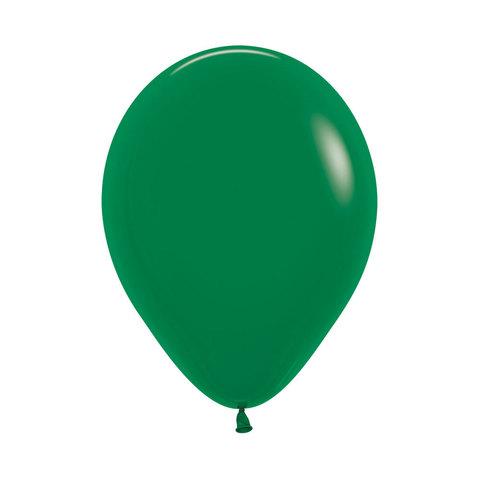 Латексный воздушный шар, цвет темно-зеленый пастель