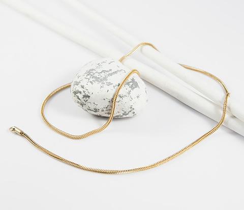 SSNZ-18-17-GD Мужская круглая цепочка золотистого цвета из стали, &#34Spikes&#34