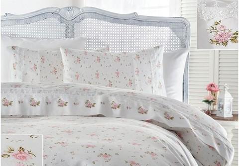 Постельное белье Gelin Home ROZA розовая  евро