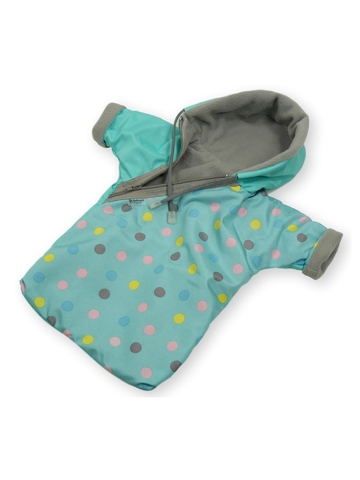 Прогулочный конверт - Бирюзовый. Одежда для кукол, пупсов и мягких игрушек.