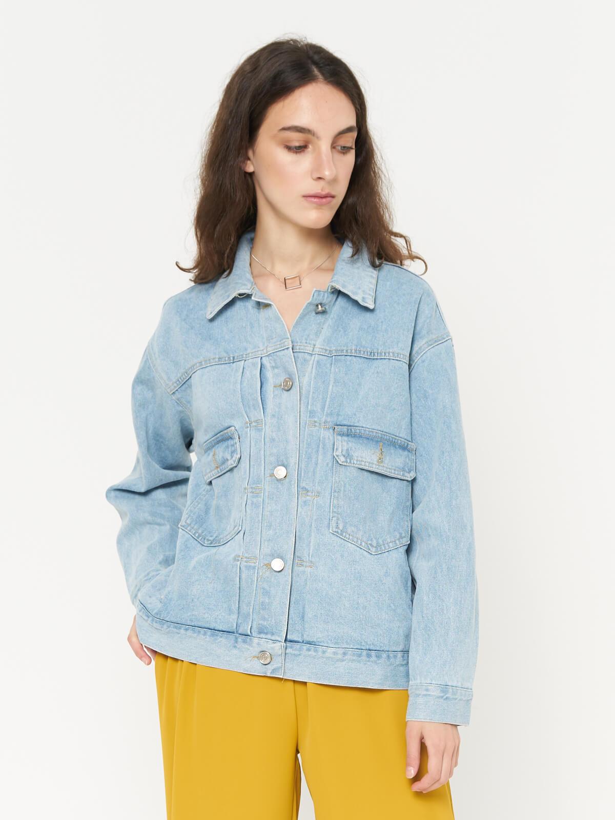 Куртка джинсовая с накладными карманами