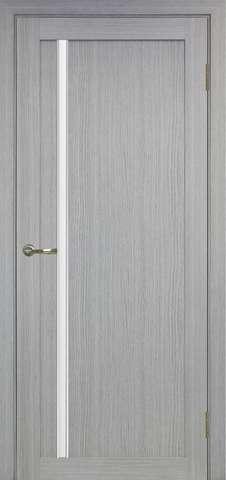 > Экошпон Optima Porte Турин 527.121АПС молдинг SC, стекло матовое, цвет дуб серый, остекленная