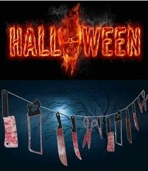 Ужасы декорация Гирлянда Кровавые ножи — Halloween Garland Bloody Knives