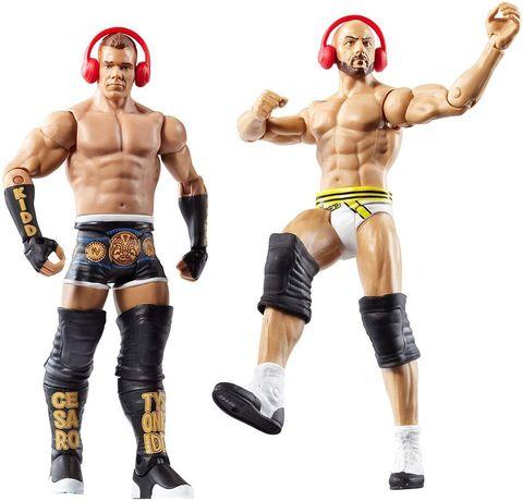 Набор из 2 фигурок Тайсон Кидд и Сезаро (Tyson Kidd and Cesaro) - рестлеры WWE, Mattel