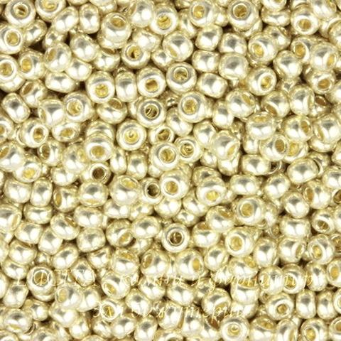 18303 Бисер 10/0 Preciosa Металлик бледно-золотистый (18303100)