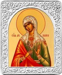 Святая Калиса. Маленькая икона в серебряной раме.