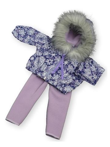 Костюм с курткой c мехом - Фиолетовый. Одежда для кукол, пупсов и мягких игрушек.