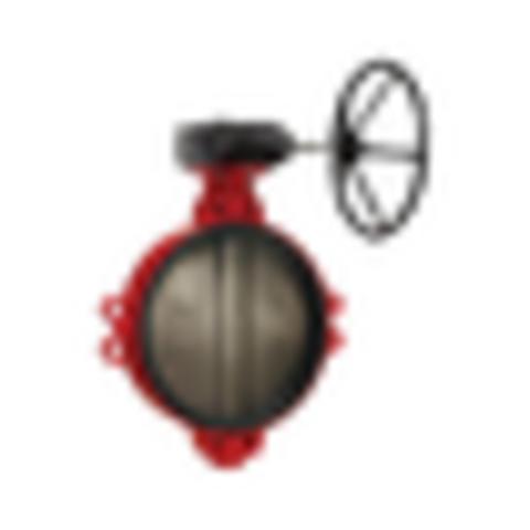 Затвор дисковый поворотный чугун ЗПВЛ Гранвэл Ду 400 Ру16 межфл с редуктором диск нерж манжета EPDM ADL BD01A40640