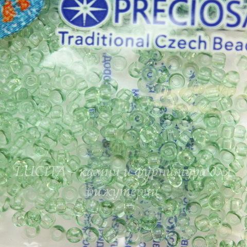 01162 Бисер 10/0 Preciosa Кристалл Соль-Гель светло-зеленый