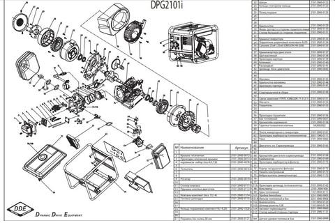Якорь DDE (ротор) DPG2101i со стороны глушителя-левый