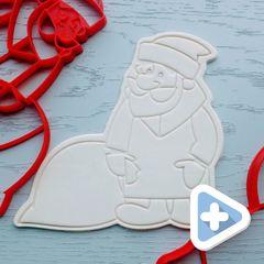 Дед мороз форма для пряника