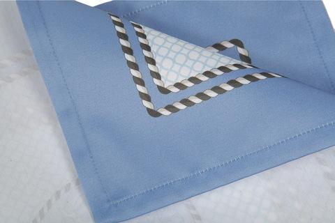 Салфетки 4 шт 40x40 Blonder Home Laroux синие