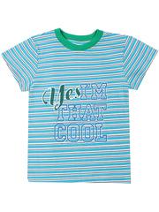 10129 футболка для мальчиков, голубая