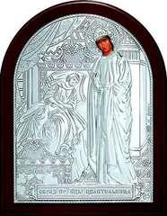 Серебряная икона Божией Матери Целительницы 11х9см