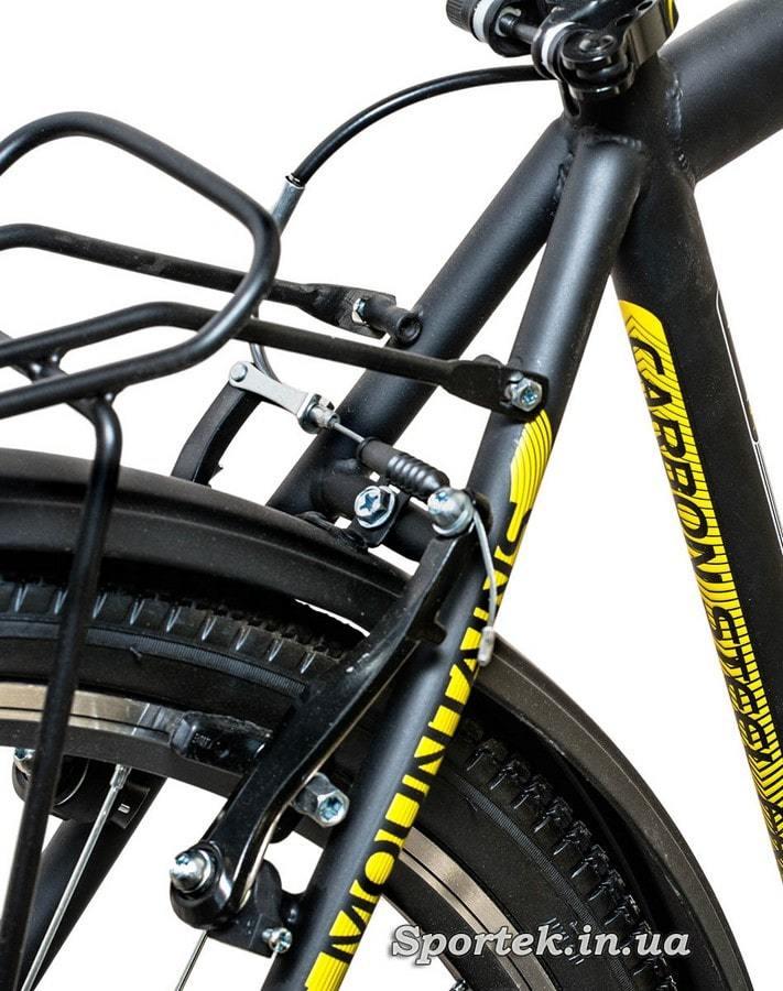 Задний тормоз городского мужского велосипеда Формула Горизонт 2015