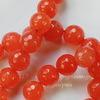 Бусина Жадеит (тониров), шарик с огранкой, цвет - барбарис, 10 мм, нить