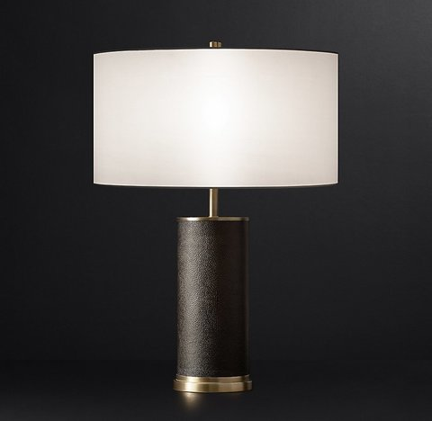 Delano Shagreen Cylinder Table Lamp