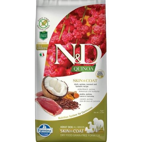 Farmina N&D Dog Grain Free quinoa skin & coat duck  здоровая кожа и шерсть с уткой и киноа 7кг