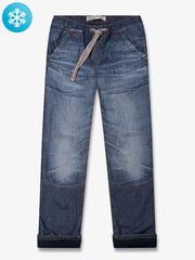 BJN005031 джинсы для мальчиков утепленые, медиум дарк